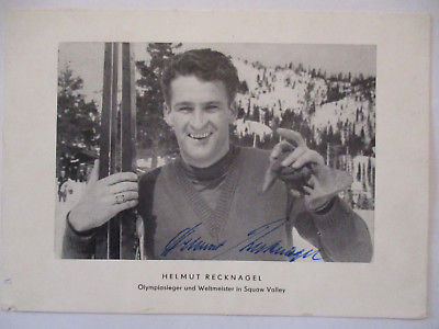 Skispringen, Helmut Recknagel, original Autogramm, Text von seiner Braut (35472)