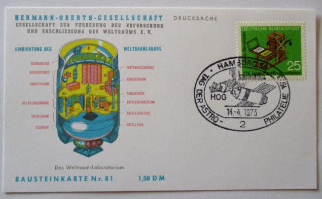 Raumfahrt, Hermann Oberth Gesellschaft, Bausteinkarte 81 (45131)
