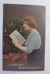 Weihnachten, Frauen, Soldat, Weihnachtsgruß,  1915 ♥ (66094)