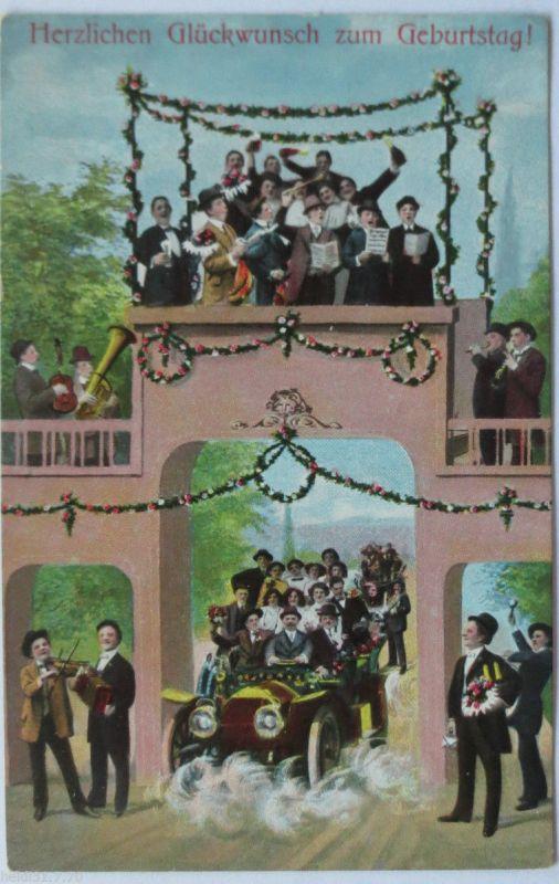 Geburtstag Manner Auto Schone Karte Ca 1910 4337 Nr 4337