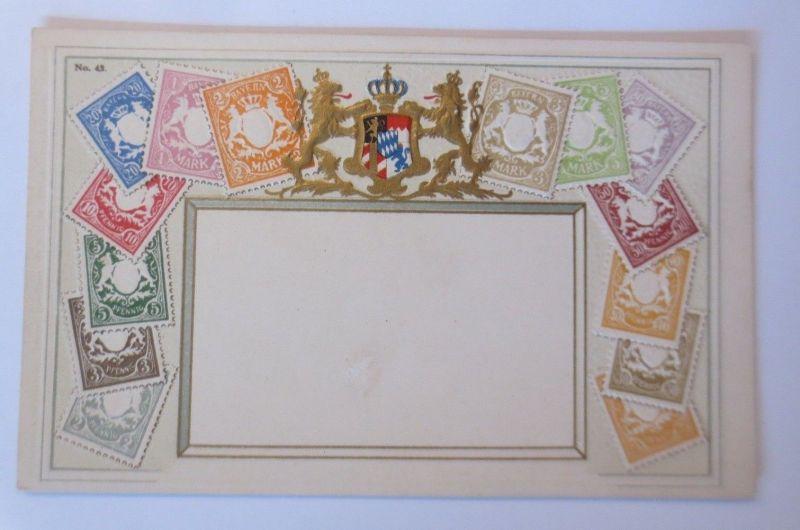 Briefmarken, Briefmarkensprache, Bayern,    1910, Prägekarte  ♥   (66719)