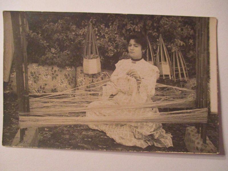 Berufe, Frau, Weberin, Weben, Fotokarte ca. 1920 (35766)