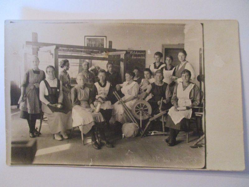 Berufe, Frauen, Spinnrad, Weber, Weberinnen, Fotokarte 1920 (39079)