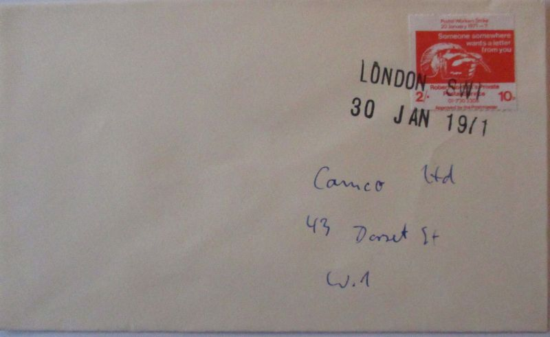Großbritannien, Strike Mail, Streik-Post 1971, Robert Norfolk Mail (13372)
