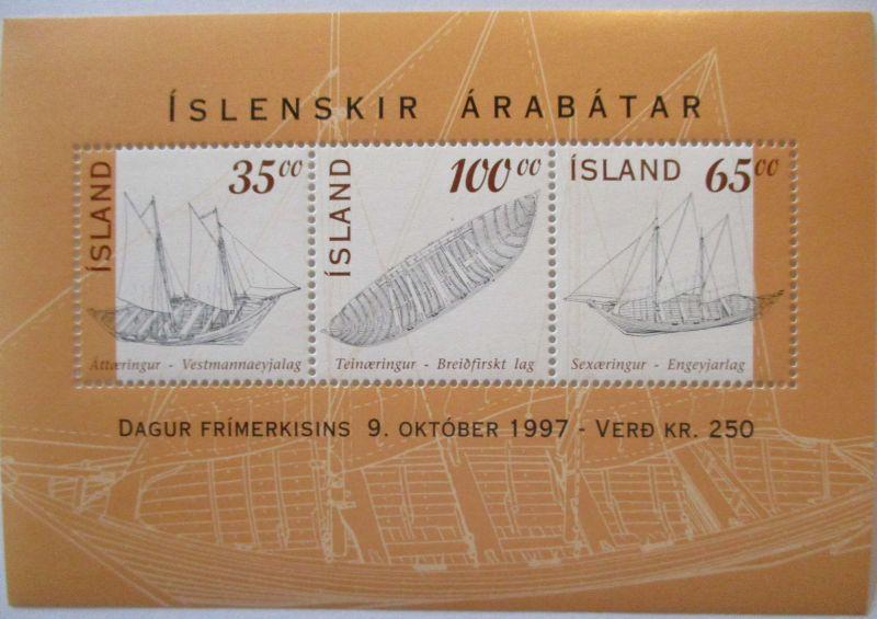 Island, Block 20 Segelschiffe postfrisch (7990)