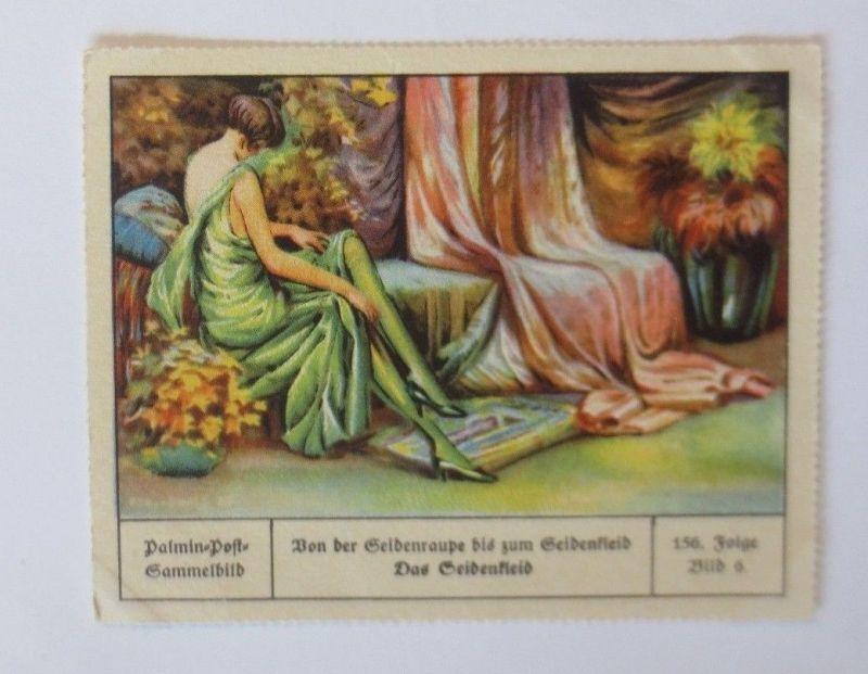 Palmin-Post-Sammelbild, Seidenraupe zum Seidenkleid, Folge 156, Bild  6 ♥(26979)
