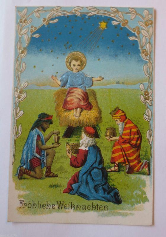 Weihnachten Krippe Bilder.Weihnachten Krippe Heilige Drei Könige 1900 Prägekarte 31924