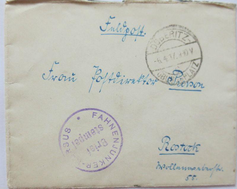 Truppenübungsplatz Döberitz, Fahnenjunker Kursus, 1917 nach Rostock (33760)