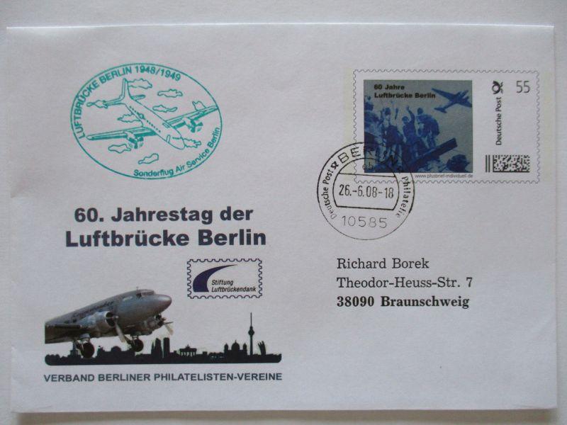 Bund, 60 Jahre Luftbrücke Berlin, Sonderganzsache 2008 (46084)