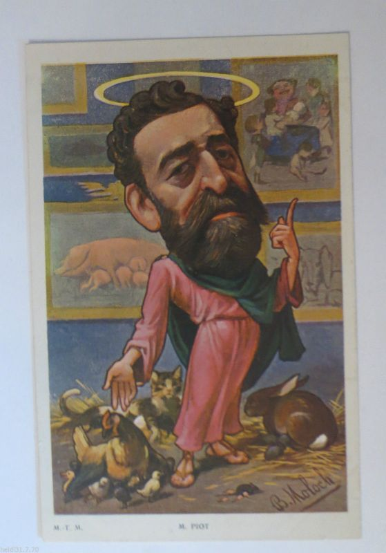 Politik, Karikatur, sign. B. Moloch: Karikatur, Franz. Politiker♥ (33357)