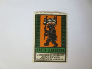 Reklamemarke, Werbung, Bären-Lebkuchen, Lebkuchen Fabrik Meinbernheim 2 (30032)