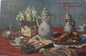 Weihnachten, Engel, Glocken, Sterne, 1904, Prägekarte ♥ (20684)
