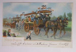 Pfingsten, Kutsche, Ausflug, Männer, Frauen, Kinder,  1905 ♥ (66594)