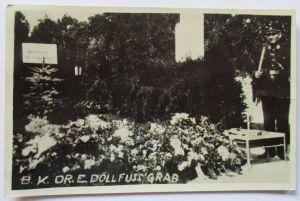 Österreich, Bundeskanzler Dr. Dollfuss, Grab, Fotokarte (13793)