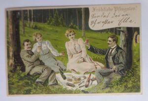 Pfingsten, Frauen, Männer, Mode, Picknick, Mailick  1903 ♥ (66587)
