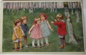 Mann Frau Kinder Familie, Fotokarte (27500)