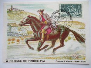 Frankreich, Maximumkarte von 1964, Tag der Briefmarke (19517)