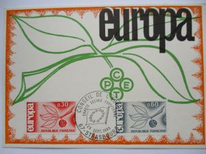 Frankreich, Maximumkarte von 1965, Europa Cept (13879)