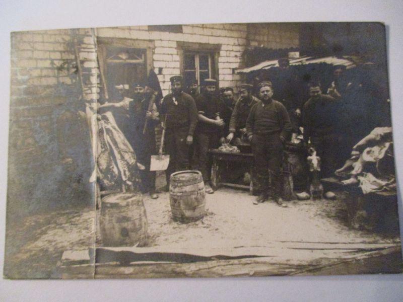 Berufe, Metzger, Fleischer, Soldaten, Fotokarte (6816)
