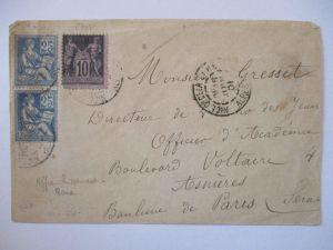 Frankreich Allegorie Briefvorderseite 1901 (5983)