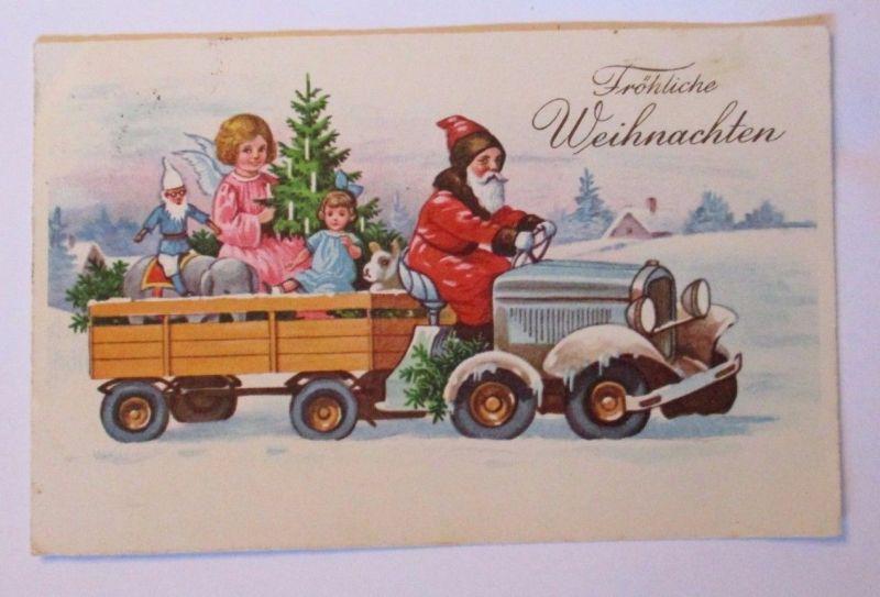 weihnachtsmann engel spielzeug zwerg elefant traktor 1939 39733 nr 39733 oldthing