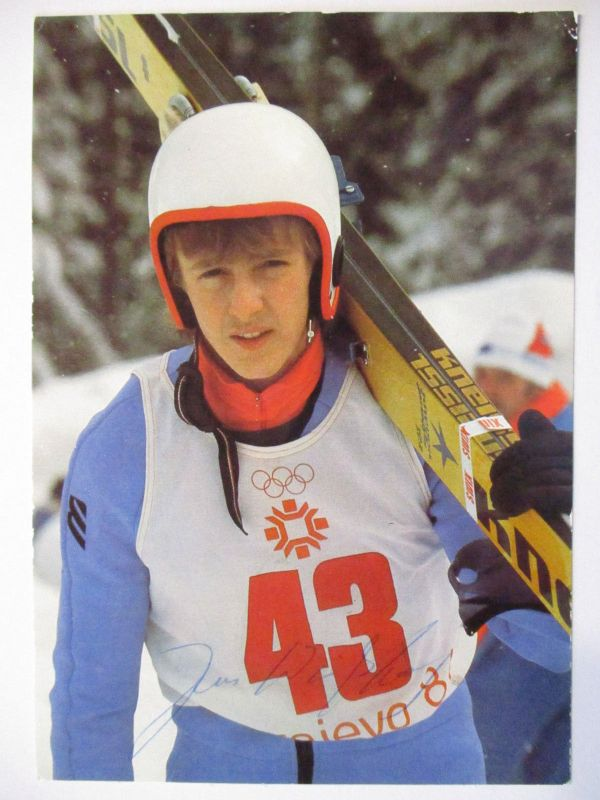 Olympia Sarajevo 1986, Skispringen, Autogramm Jens Weißflog (49748)