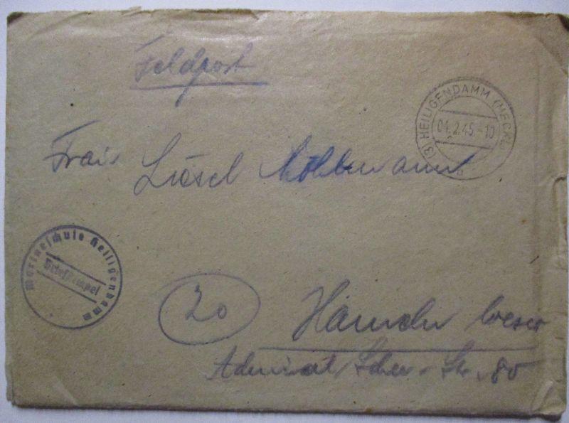 D.Reich Stettin Tor der Ostsee Vignette auf Brief 1934 (44758)