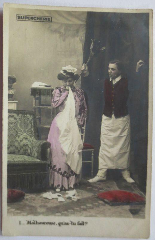 Dienstmädchen, Diener, ca. 1900 (22880)