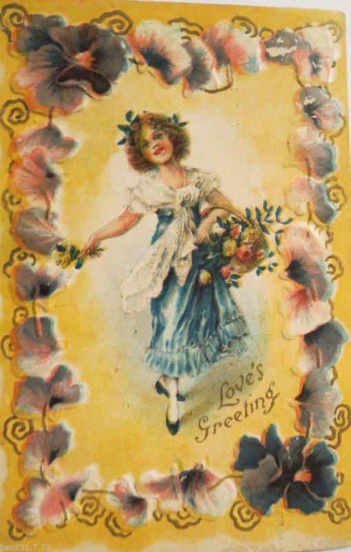 Künstlerkarte, Im Frühling des Lebends,  1923, Arno v. Riesen ♥ (17327)