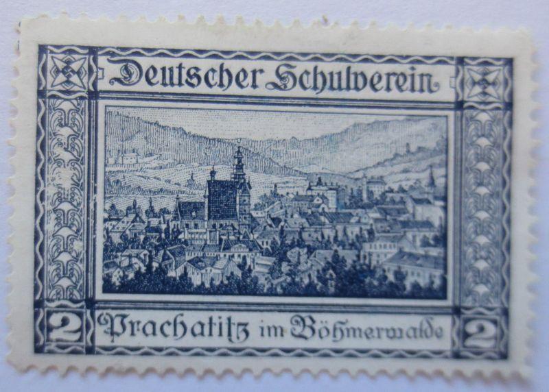 Österreich, Vignette Deutscher Schulverein, Prachalitz in Böhmen (19153)