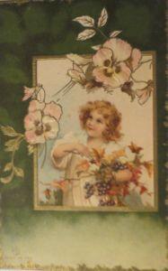 Neujahr Kinder, Mode, Bleigießen, Kleeblatt,  1910 ♥ (25030)