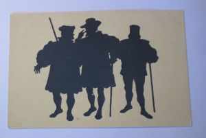 Scherenschnitt, Die Bürger, 1914, Paul Konewka ♥ (28408)