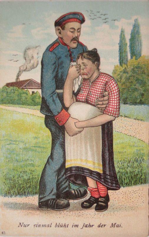 Soldat und schwangere Frau, Nur einmal blüht im Jahr der Mai (17072)