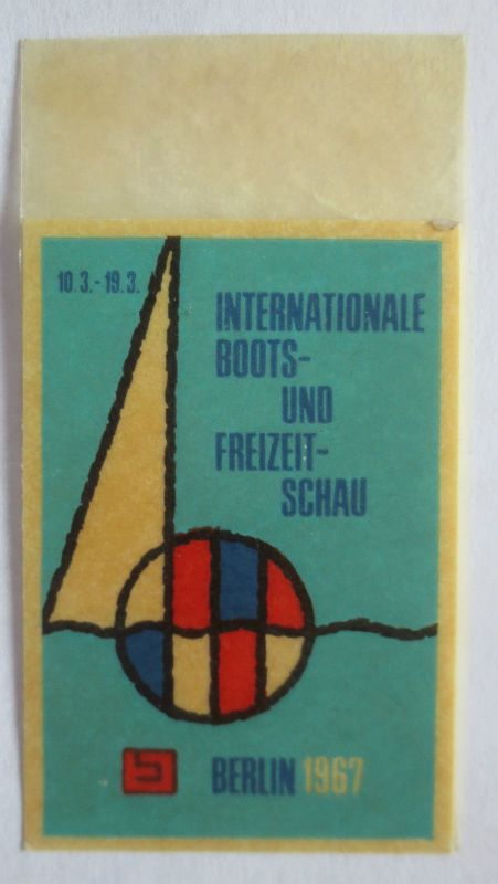 Schiffe, Boote, Schau Berlin 1967, ungebrauchte Vignette (23159)
