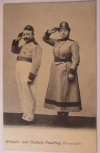 Cirkus, Varietrè, Clown, Comedy Wilhelm und Hedwig, Feuerwehr Komik (39530)