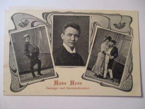Cirkus, Varietrè, Clown, Comedy, Hans Hess, Grotesk Komiker, 1909 (37512)