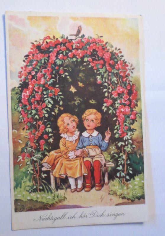 Künstlerkarte, Die Madonna der Felsengrotte  1920, Stengel ♥ (23299)