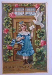 Ostern, Kinder, Mode, Hase, Weidenkätzchen, Landschaft,   1906,Mailick ♥ (30618)