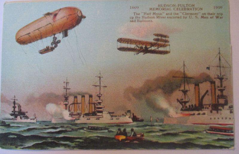 USA, Zeppelin, Flugzeug, Schiffe, Hudson Fulton Memorial 1909 (14701)