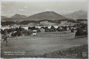 Seeham  am Obertrumer See, Ortsansicht, Fotokarte 1961 (23750)