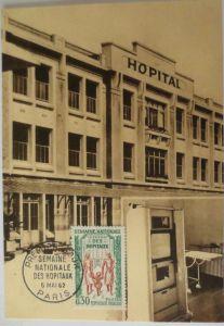 Frankreich, Maximumkarte von 1962, Des Hospitaux (14368)