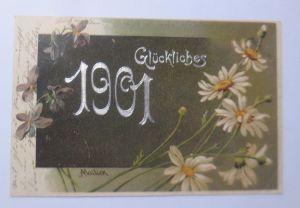 Neujahr, Jahreszahl, Blumen, 1902, Mailick ♥ (66102)