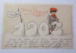 Neujahr, Jahreszahl, Kinder, Mode,   1903 ♥ (66096)