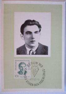 DDR, Opfer des Faschismus, Maximumkarte 1962, Julius Fucik (13832)