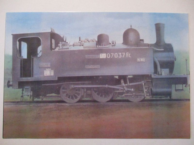 Eisenbahn, franz. Nordbahn, Tender Lokomotive, Opitz Privatganzsache (24479)