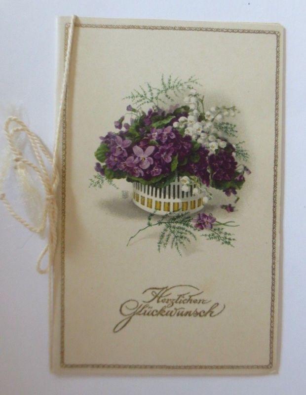 Konfirmation, Blumen,  1900,  Kleine  Klappkarte  ♥ (64632)