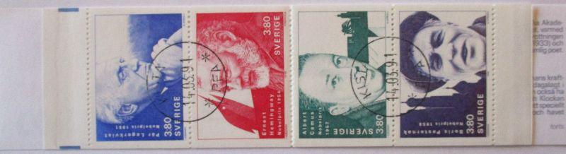 Schweden, Markenheftchen Nobelpreisträger 1990 gestempelt (50524)