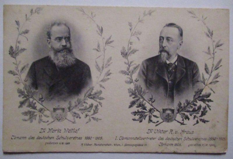 Deutscher SchulvereinObmann Dr. Welthof und Dr. Kraus 1911 (18231)