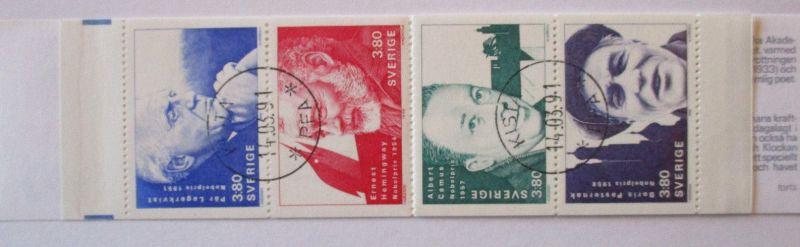 Schweden, Markenheftchen Drucken Druckerei 1990 gestempelt (61109)