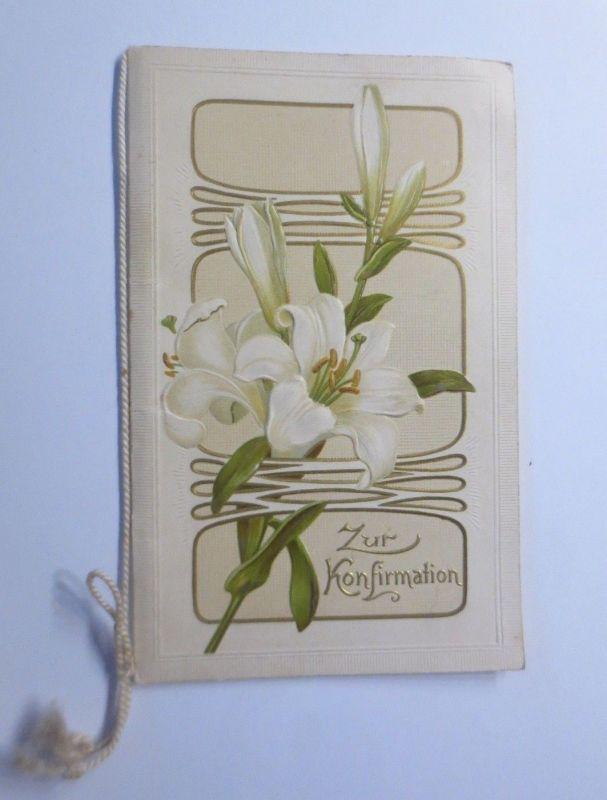 Glückwunschkarte, Konfirmation, Lilien, Klappkarten  1914 ♥ (25860)